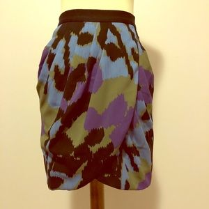 Banana Republic Calico Print Petal Front Skirt